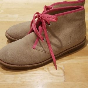 New Without Tags Leather Lands End Booties sz 4